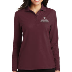 EAHR Ladies L/S Silk Touch Polo Thumbnail